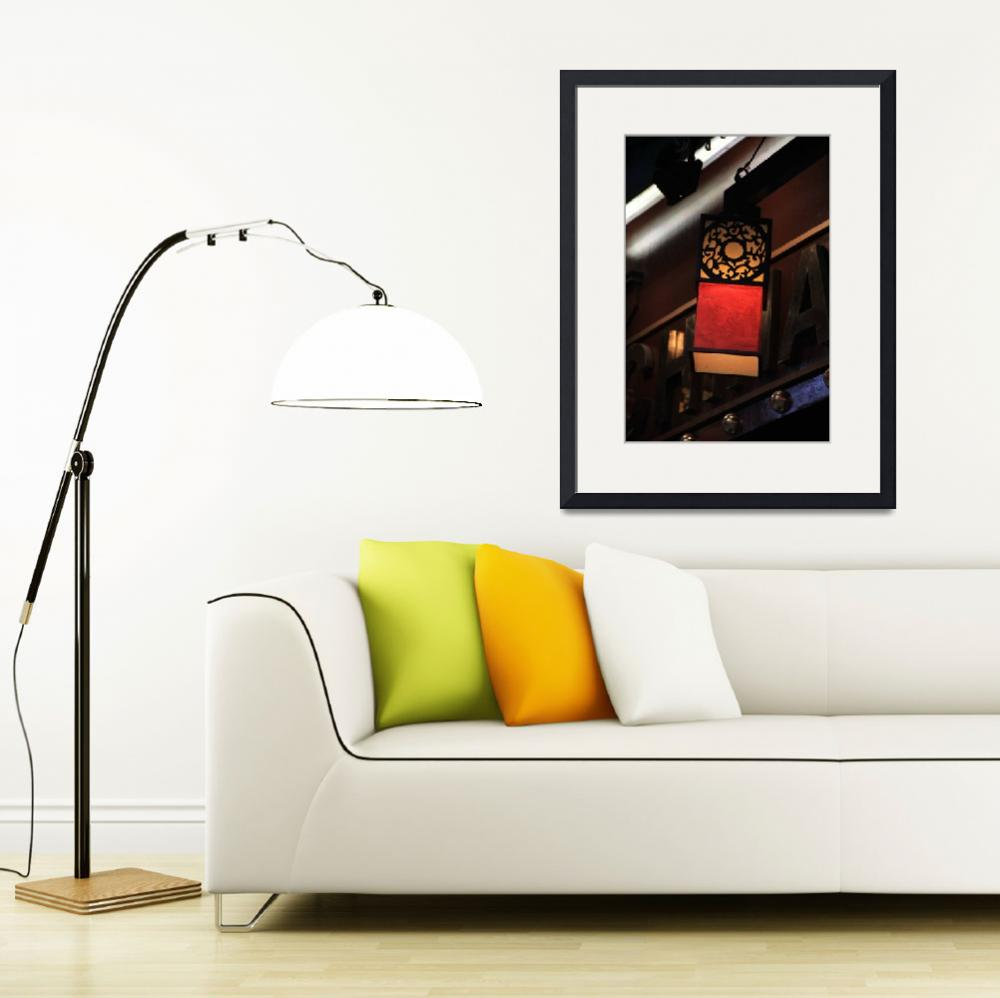 """Chinese lamp in London&quot  (2012) by easyfigure"