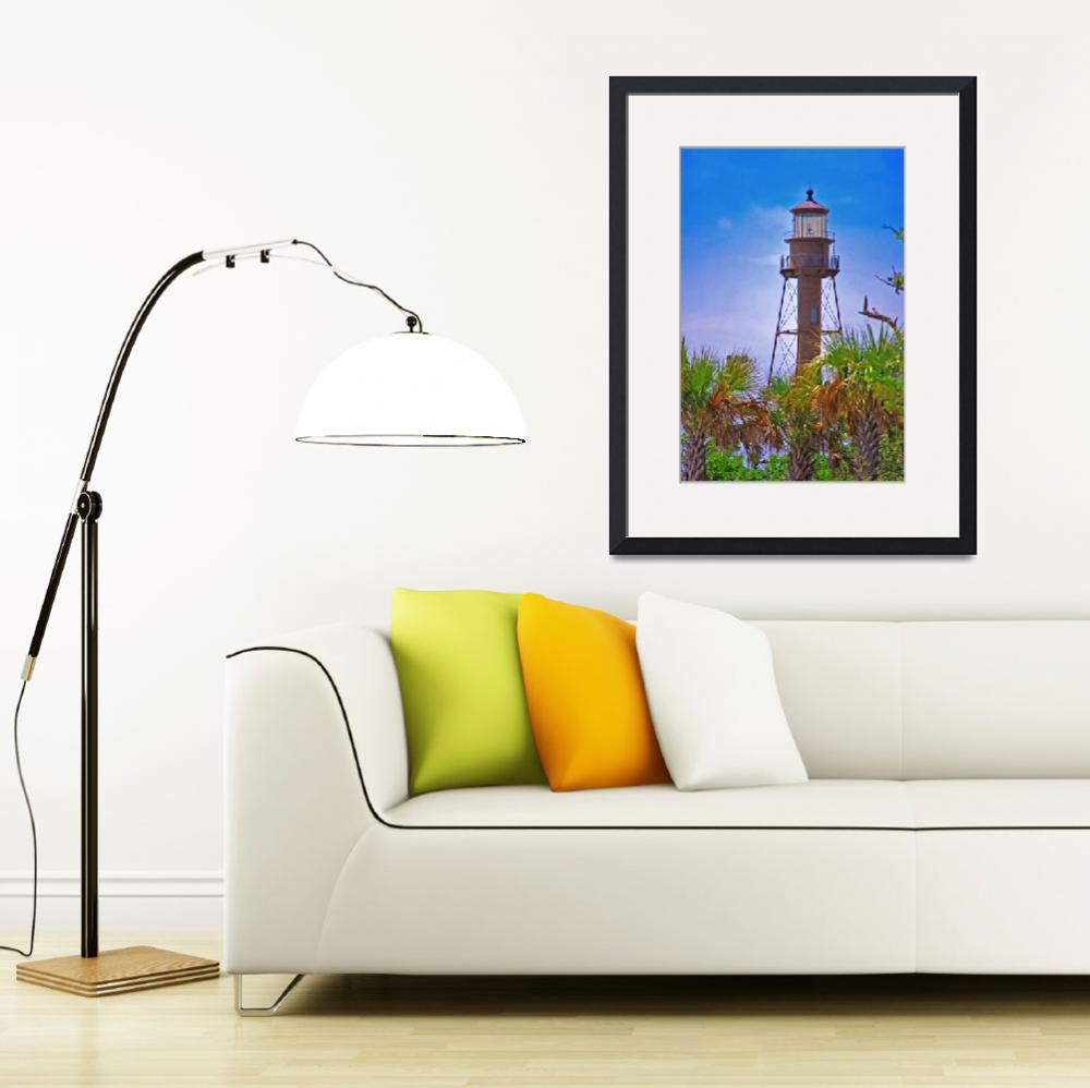 """sanibel island lighthouse&quot  (2009) by lwoodburn"