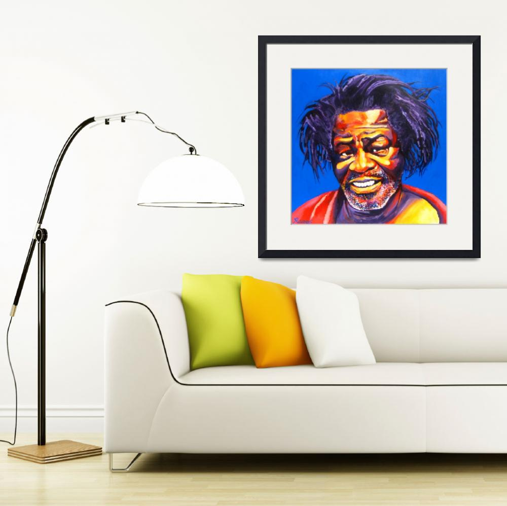 """James Brown Mug Shot&quot  (2005) by RamosStudios"
