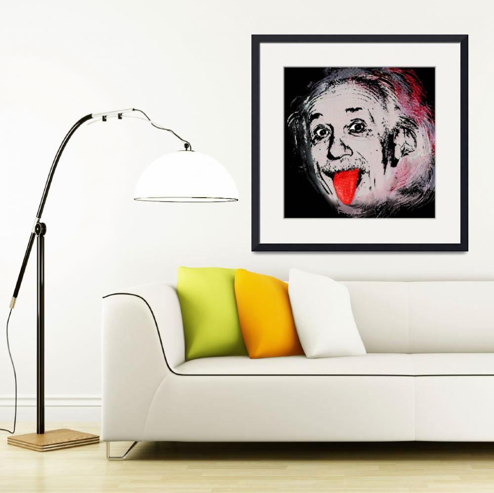"""Albert Einstein and Tongue&quot  (2014) by RubinoFineArt"