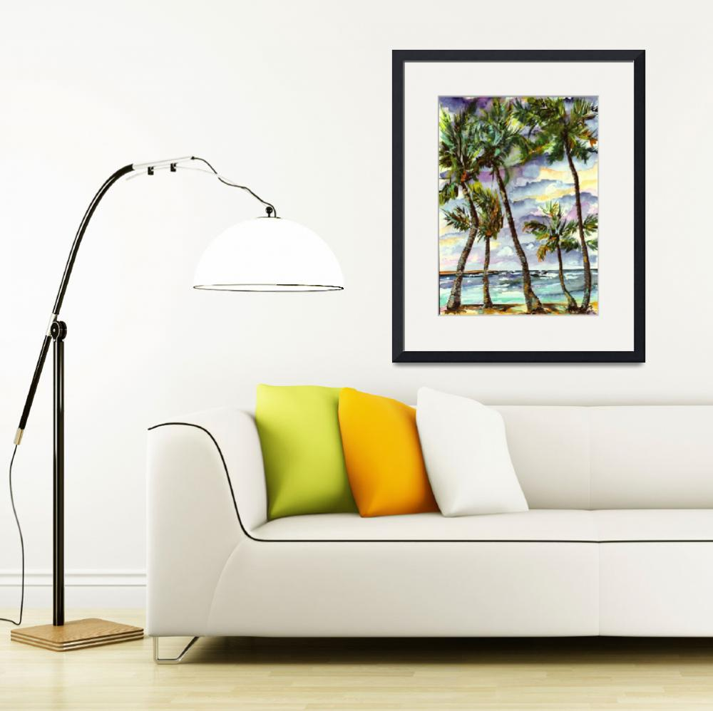 """Bahamas Beach & Palms&quot  (2004) by GinetteCallaway"
