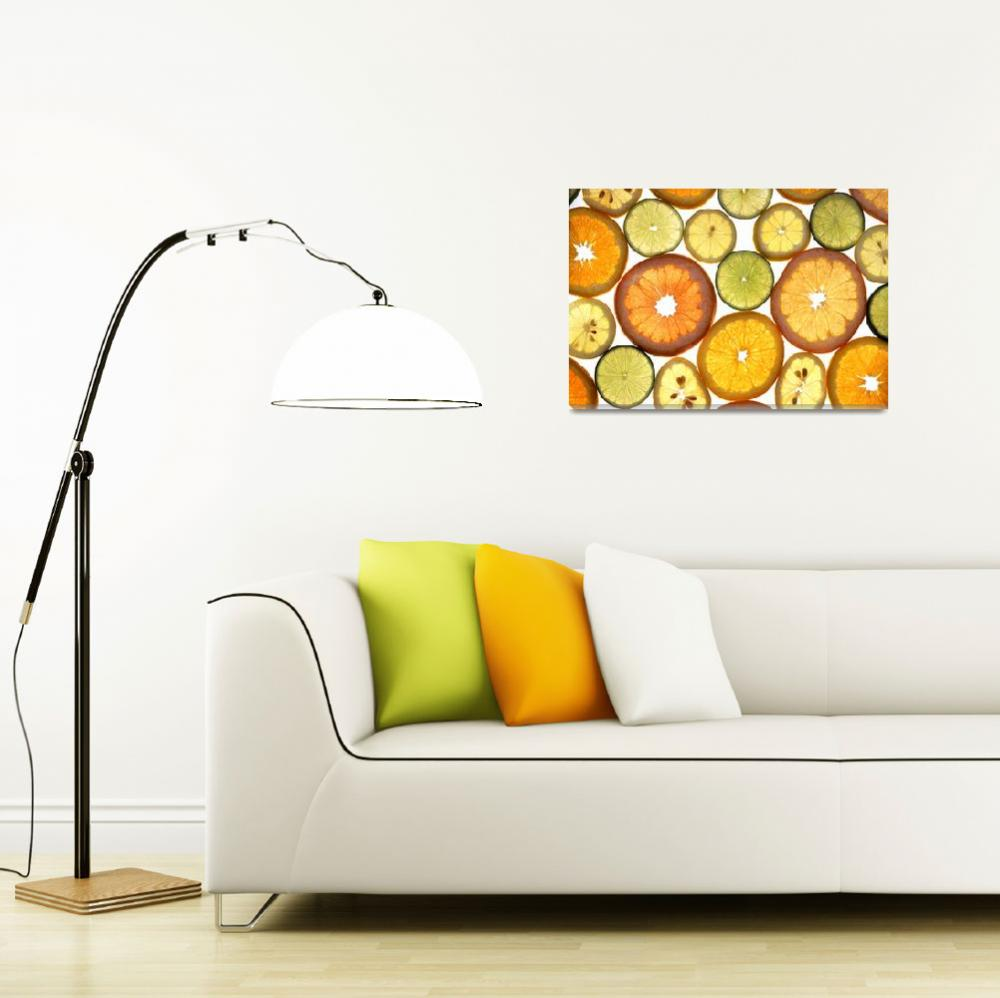 """Citrus Fruit Slices&quot  by Alleycatshirts"
