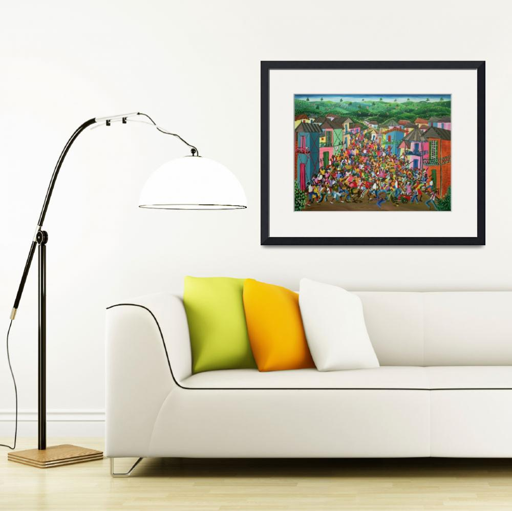 """Village Festival, Haiti by Inatace Alphonse&quot  by fineartmasters"