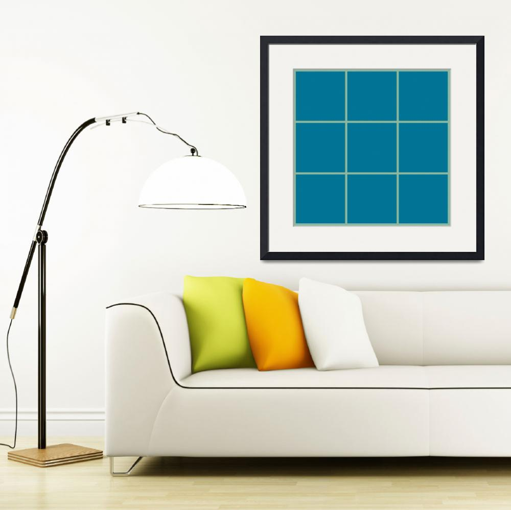 """Blue Window 139 Canvas Contemporary Modern&quot  (2010) by Ricardos"