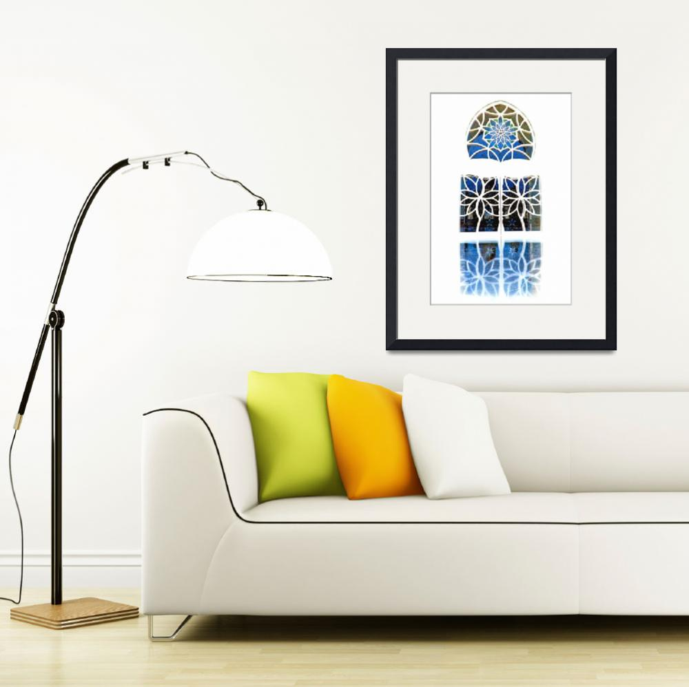 """Mosque Foyer Window 1 white&quot  (2010) by Markomarko"