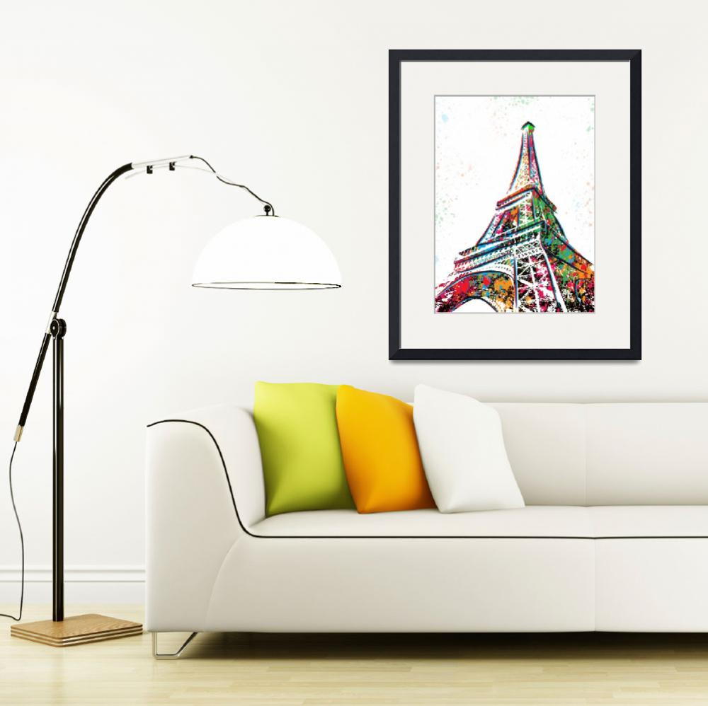 """Eiffel Tower - Paris - Pop Art&quot  (2015) by wcsmack"