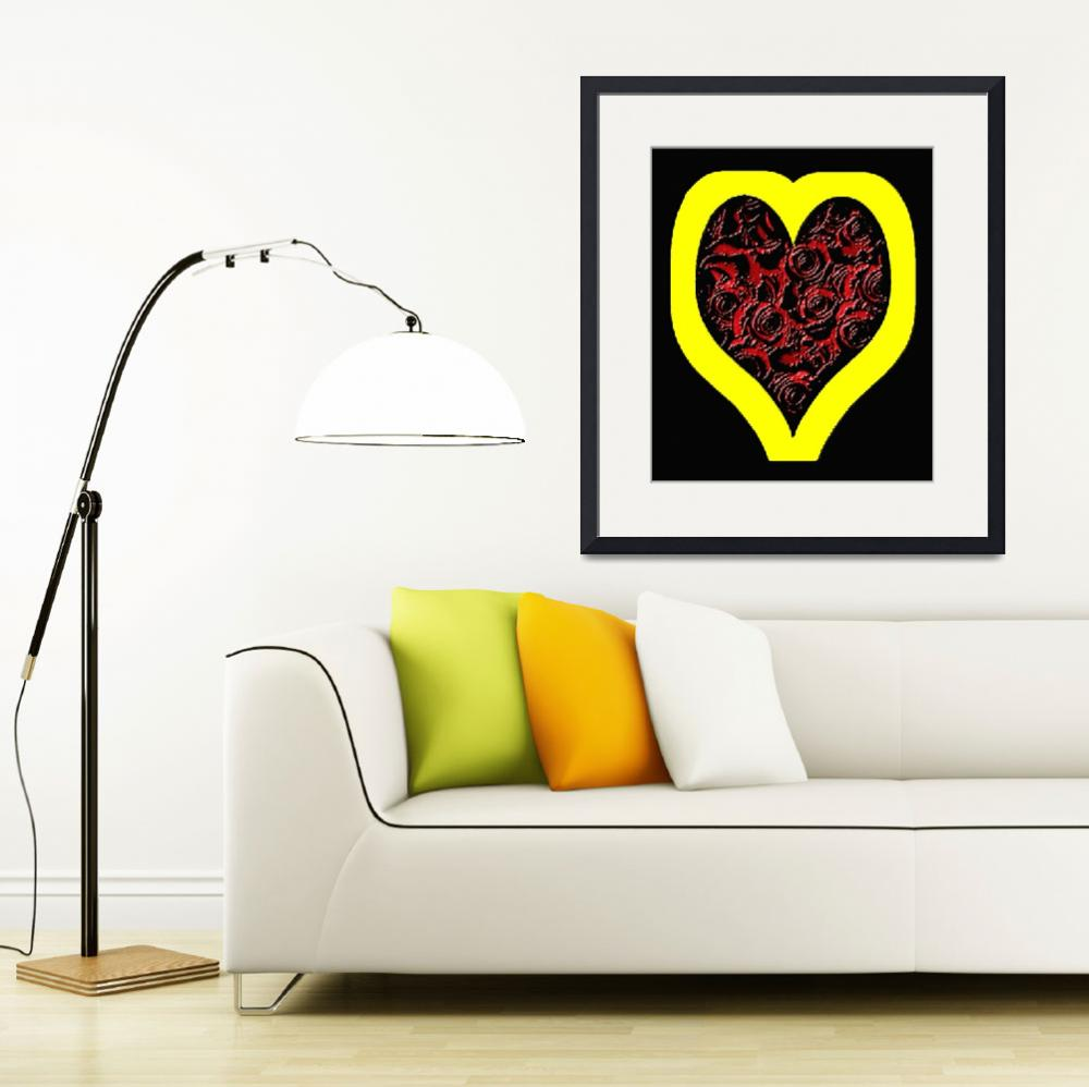 """Haitian Heart - 4&quot  (2010) by ousseau-arts-designs"