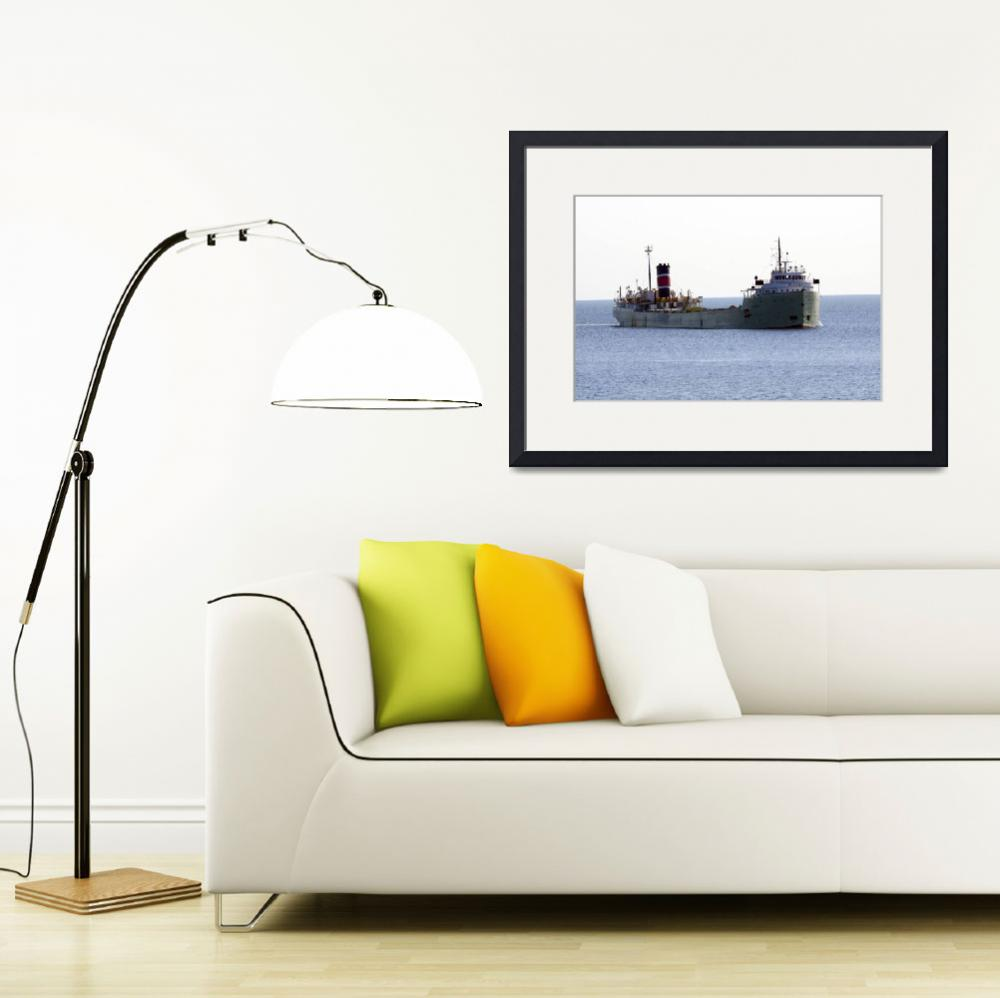 """Alpena ship entering Duluth MN Harbor&quot  by cameragal"