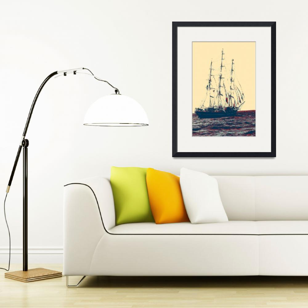 """clipper-ship-812699 art&quot  by motionage"