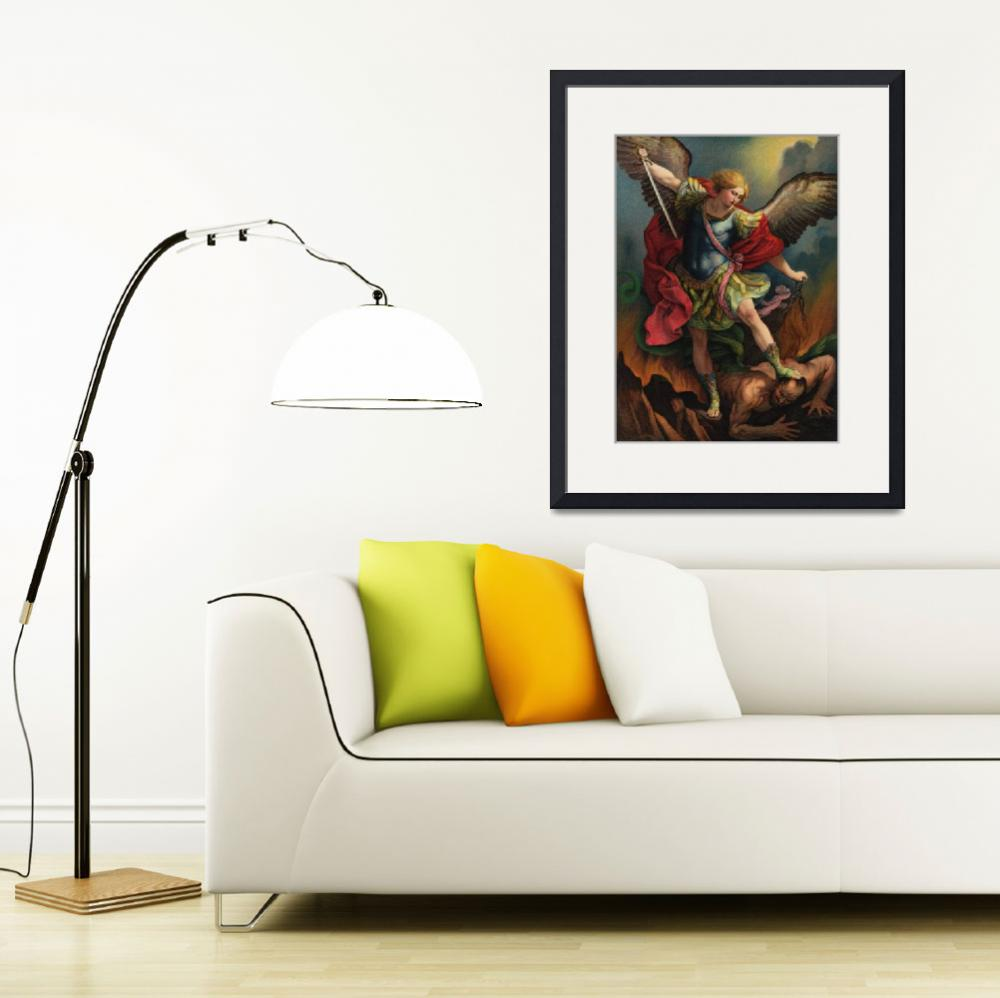 """Saint Michael the Arcangel&quot  by decoratifcollections"