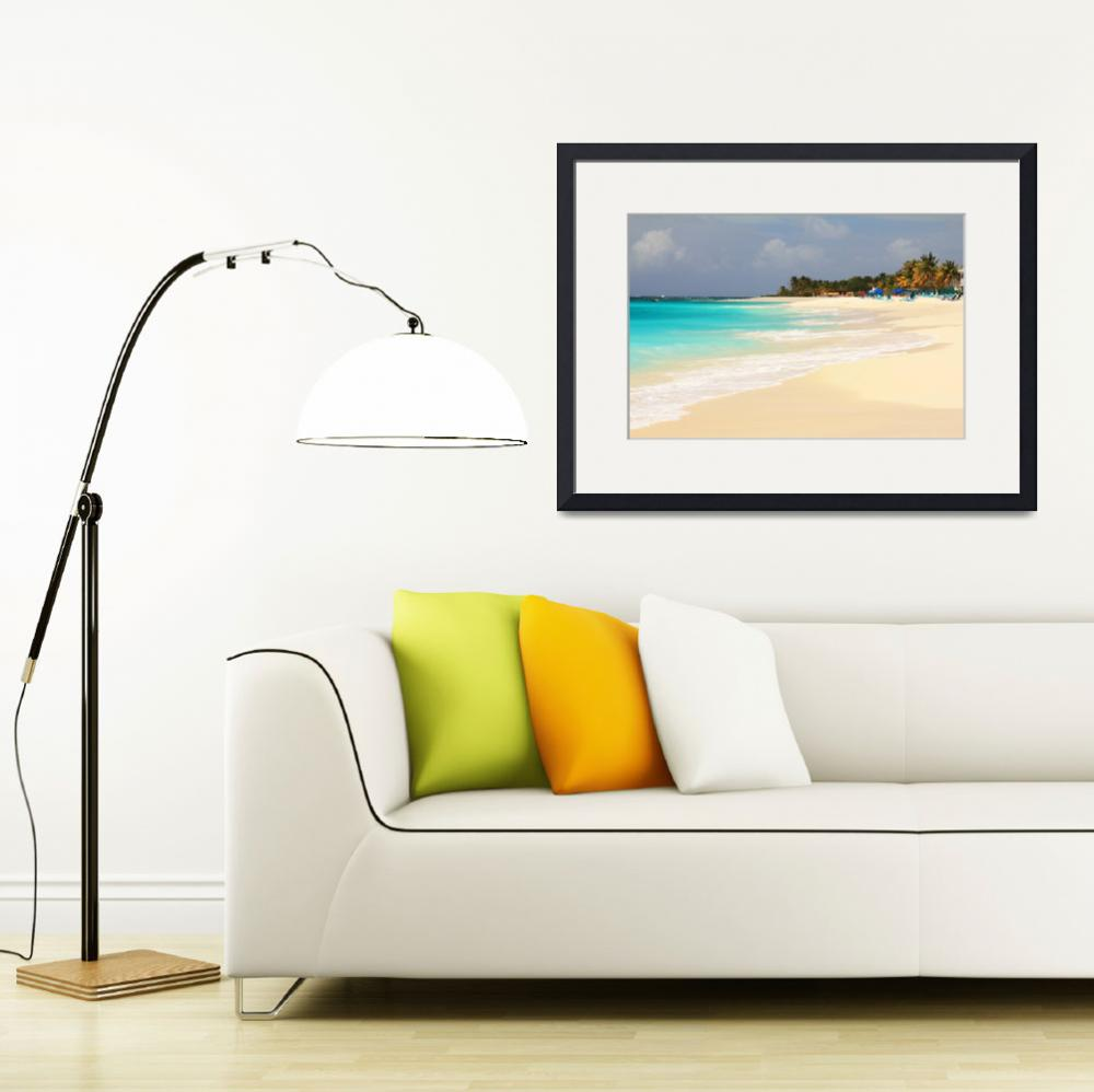 """Shoal Bay Beach, Anguilla&quot  (2013) by RoupenBaker"