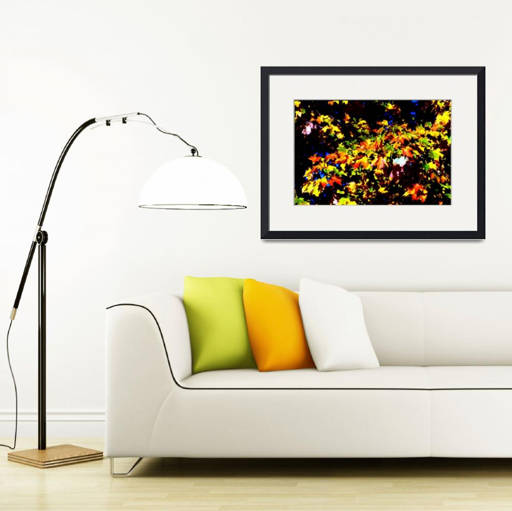 """Autumn Leaves, Orange, Yellow, Nature Photography&quot  (1997) by MikeMBurkeDesigns"