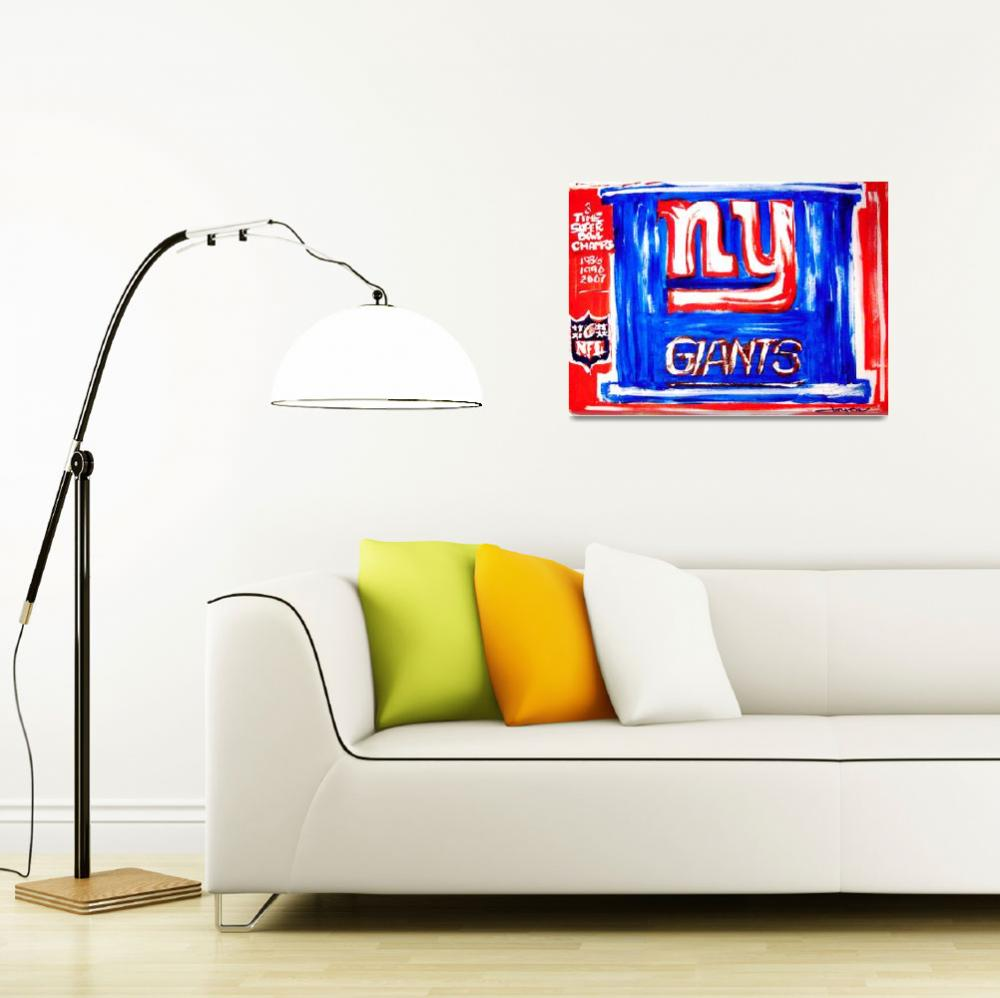 """NY GIANTS POSTER&quot  (2010) by USAprideBYjoyce"