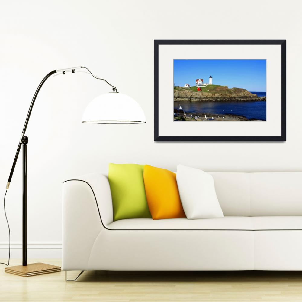 """Nubble Lighthouse&quot  (2010) by Lorraine_Sommer"