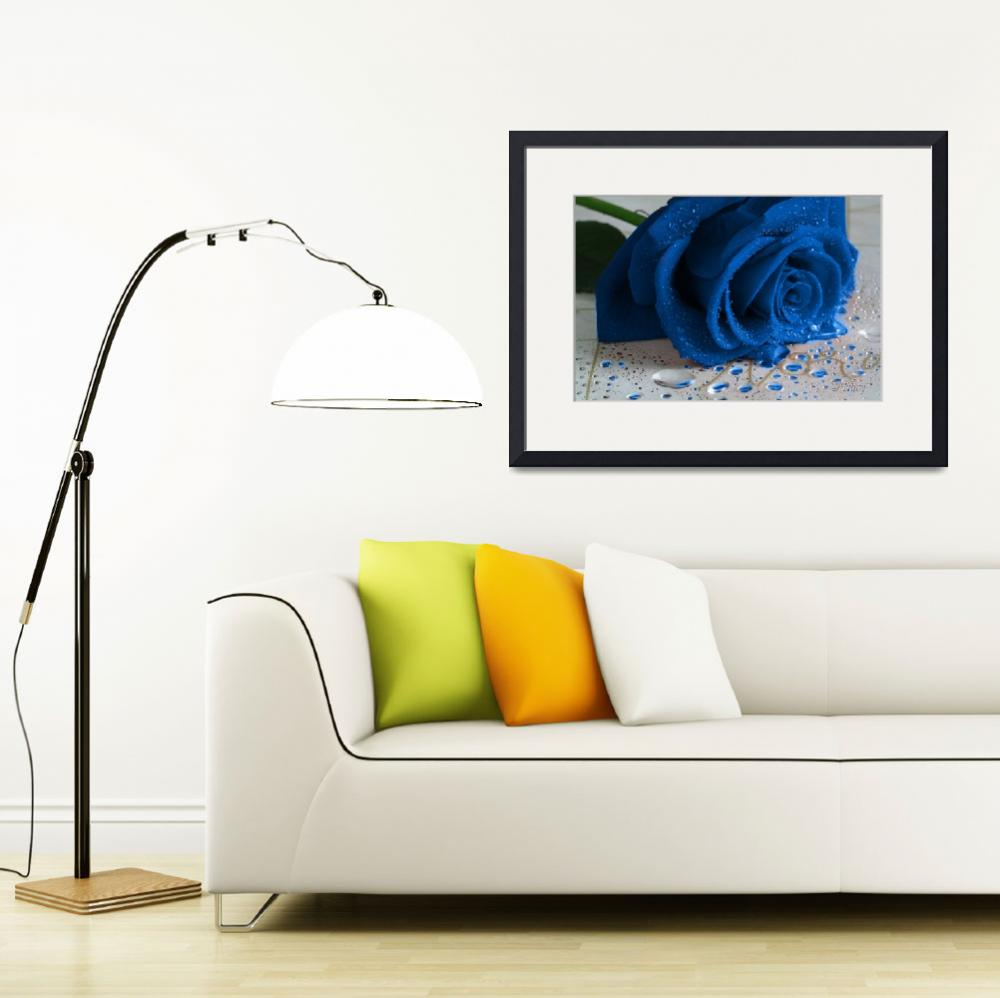 """The Magical Blue Rose&quot  (2011) by Tracy2912"