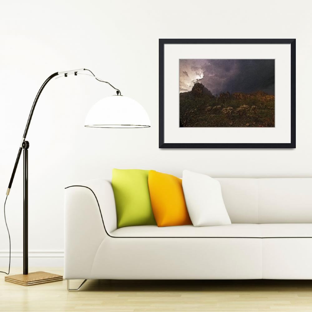 """Superstition Mountain Storm&quot  (2005) by kphotos"