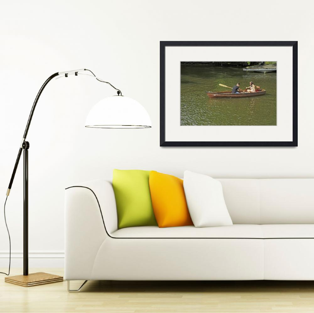 """Rowing In Boat 18, Stratford-upon-Avon (36761-RDA)&quot  (2013) by rodjohnson"