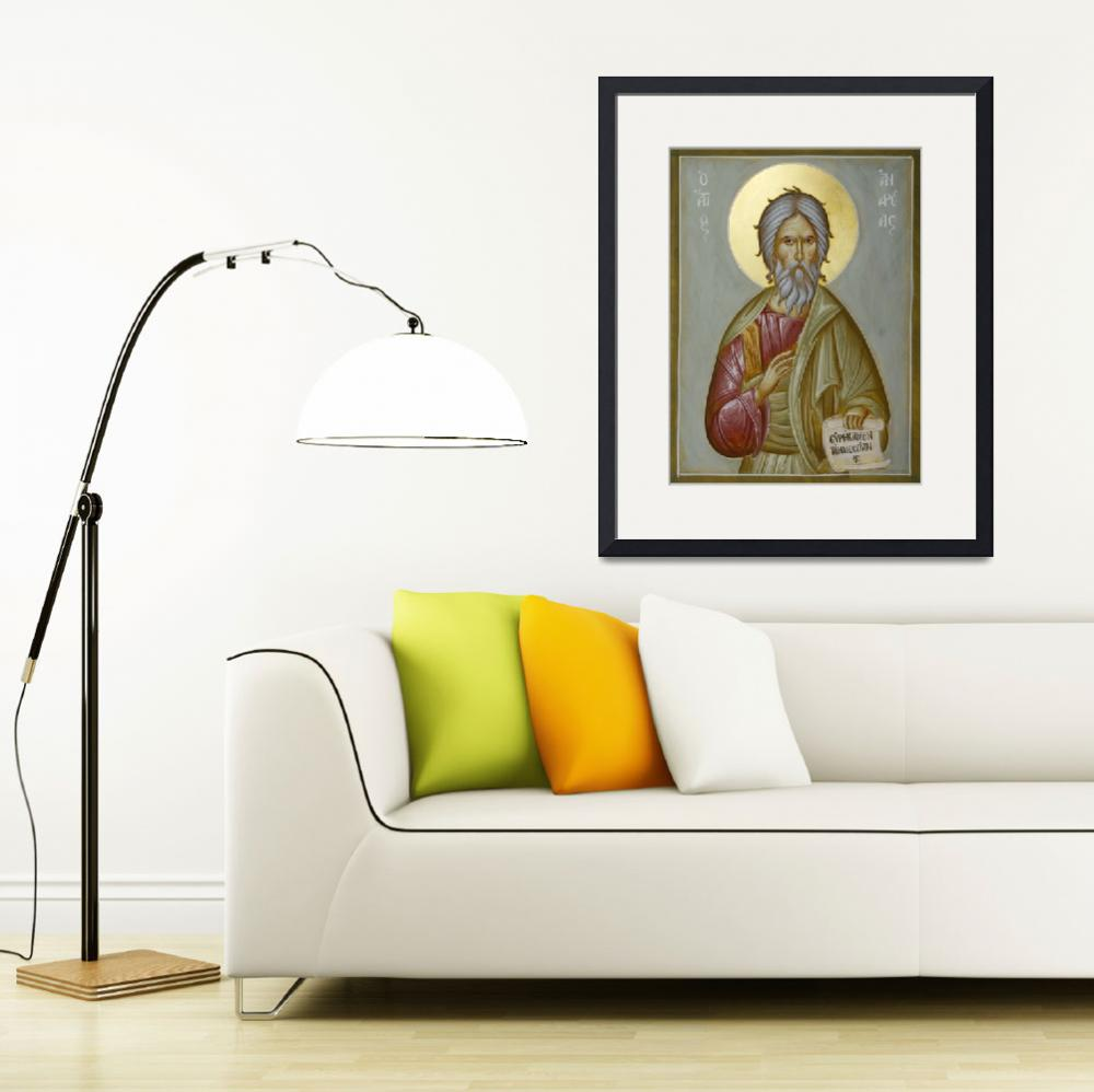 """St Andrew the Apostle and First-called&quot  (2011) by ikonographics"