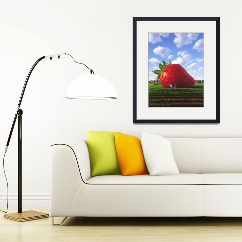"""Giant Strawberry&quot  (1990) by jerrylofaro59"