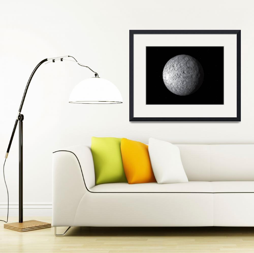 """Artists concept of Ceres, a large asteroid&quot  by stocktrekimages"