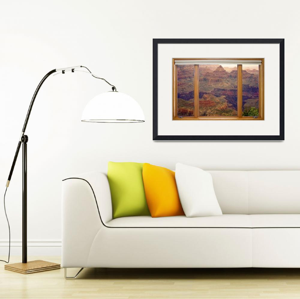 """Colorful Grand Canyon Modern Wood Picture Window&quot  (2013) by lightningman"