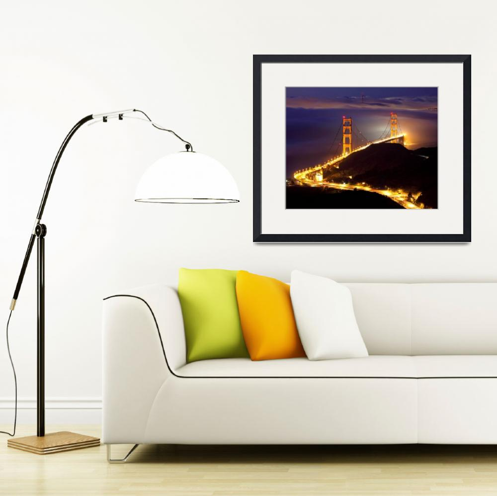 """Golden Gate Bridge from CRT&quot  (2010) by robkroenert"