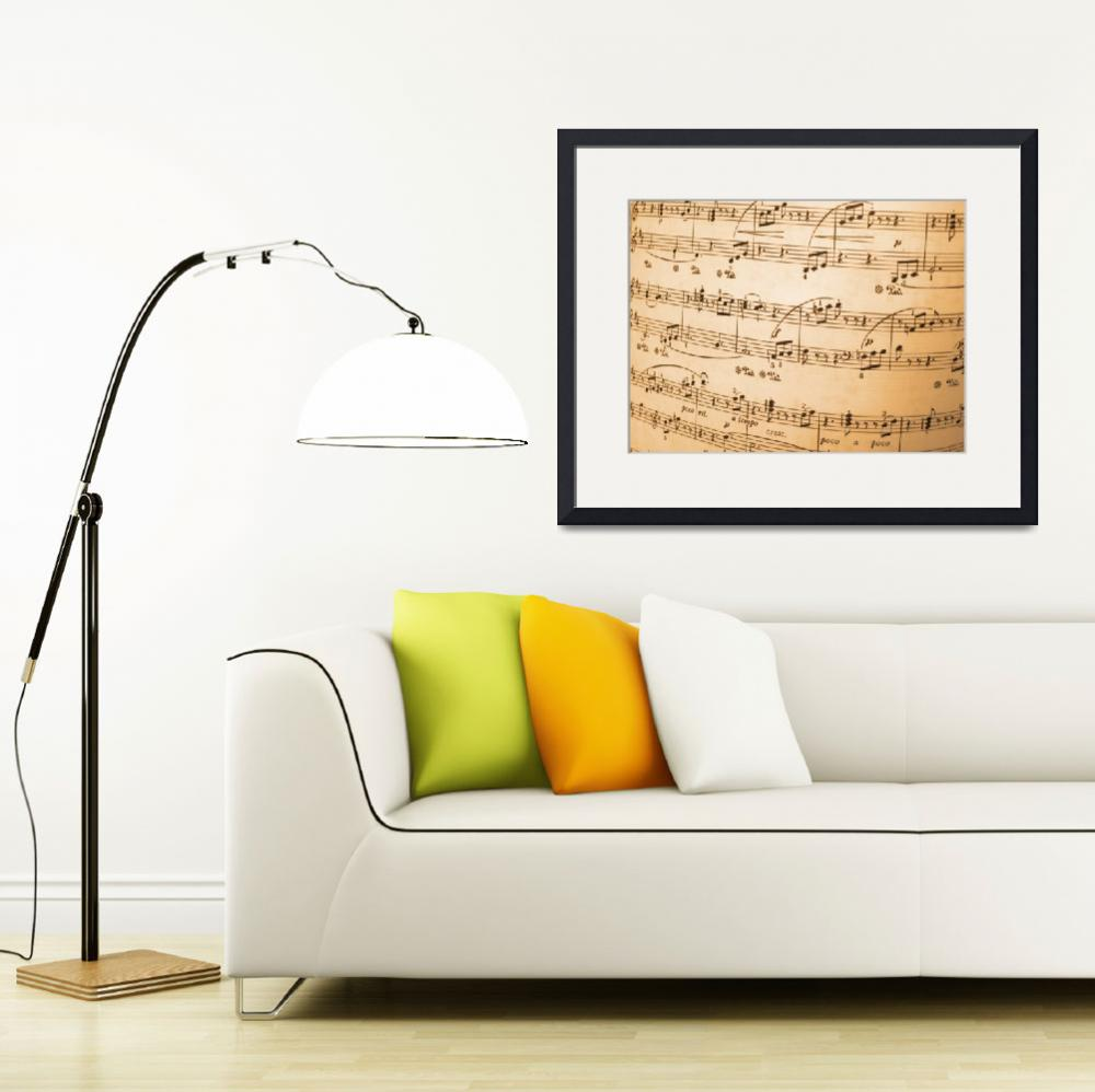 """Music Notes&quot  by ArgosDesigns"