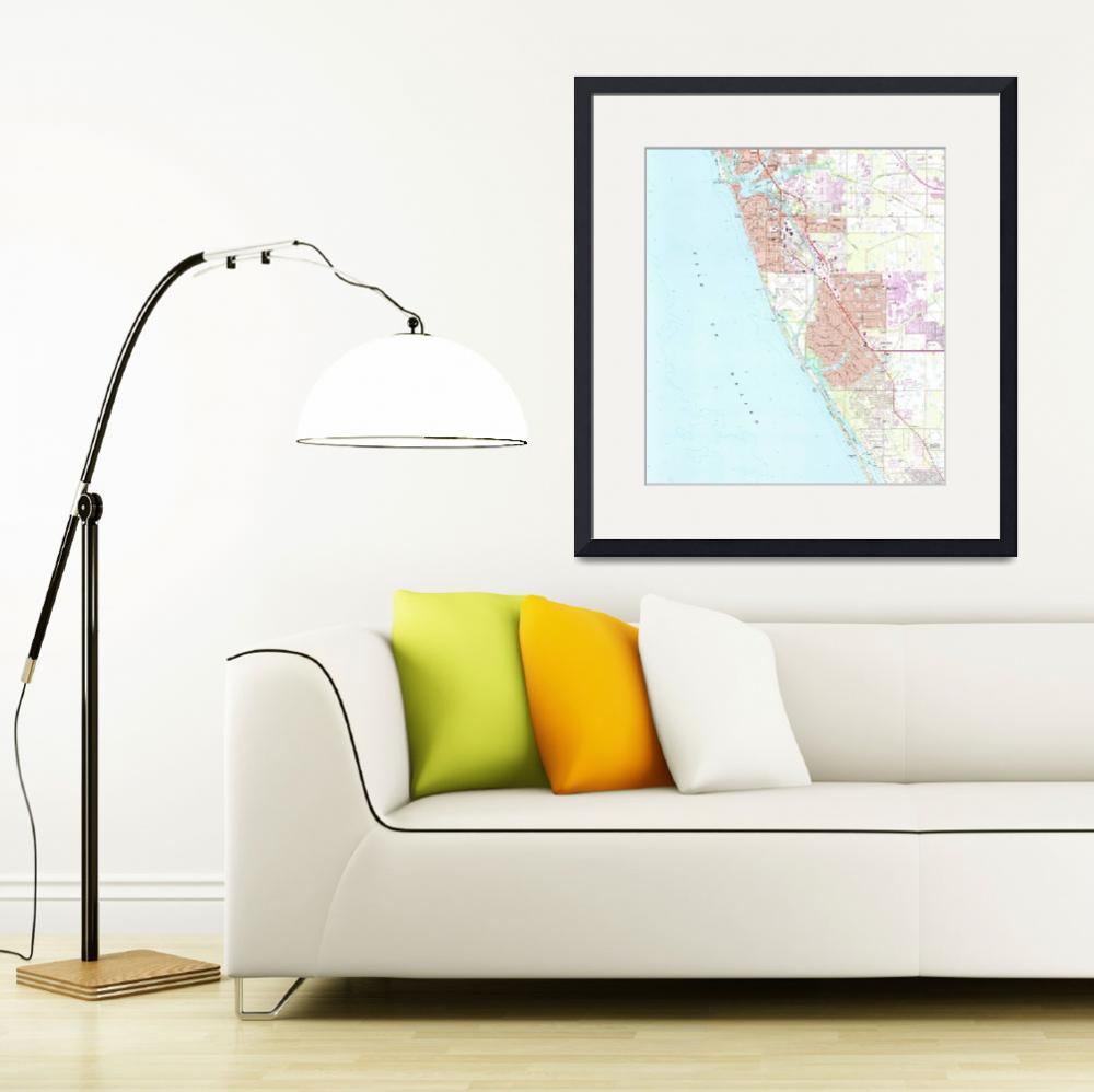 """Venice Florida Map (1973)&quot  by Alleycatshirts"