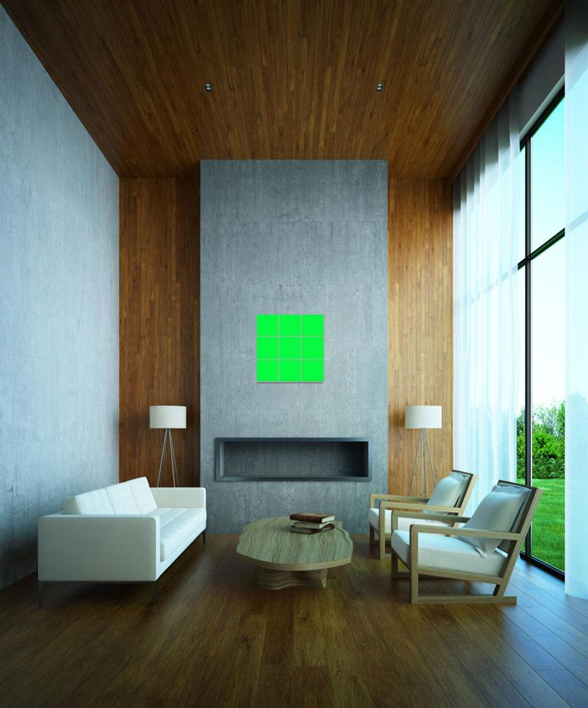 """Green Window 010 Canvas Contemporary Modern&quot  (2010) by Ricardos"