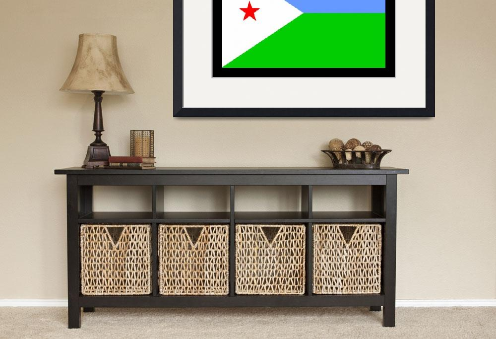 """Djibouti Flag&quot  by KWGart"