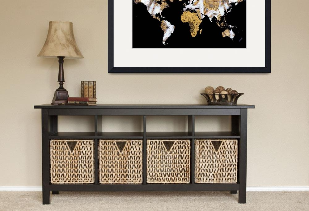 """World Map Silhouette - Queen Elizabeth I Mandala&quot  by Alleycatshirts"