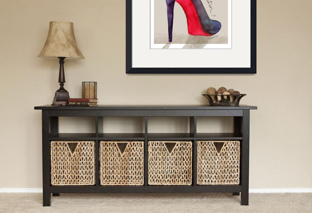 """The Louboutin shoe - fashion poster&quot  (2015) by nevenaart"