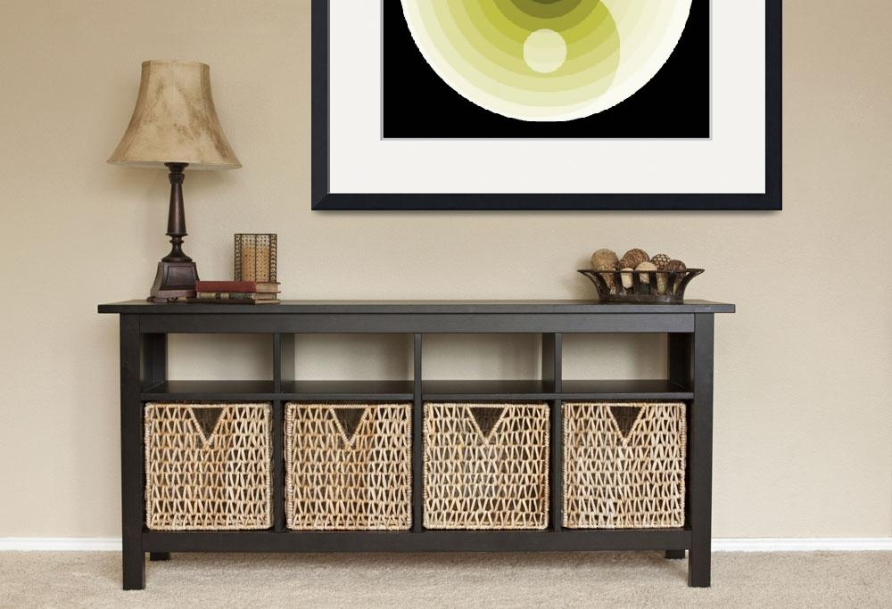 """zen lime green motif color values&quot  (2008) by AngelaHayden"