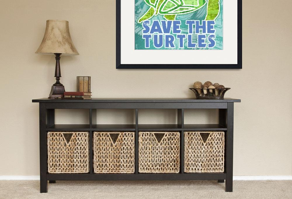 """Save the Turtles&quot  (2010) by maryostudio"