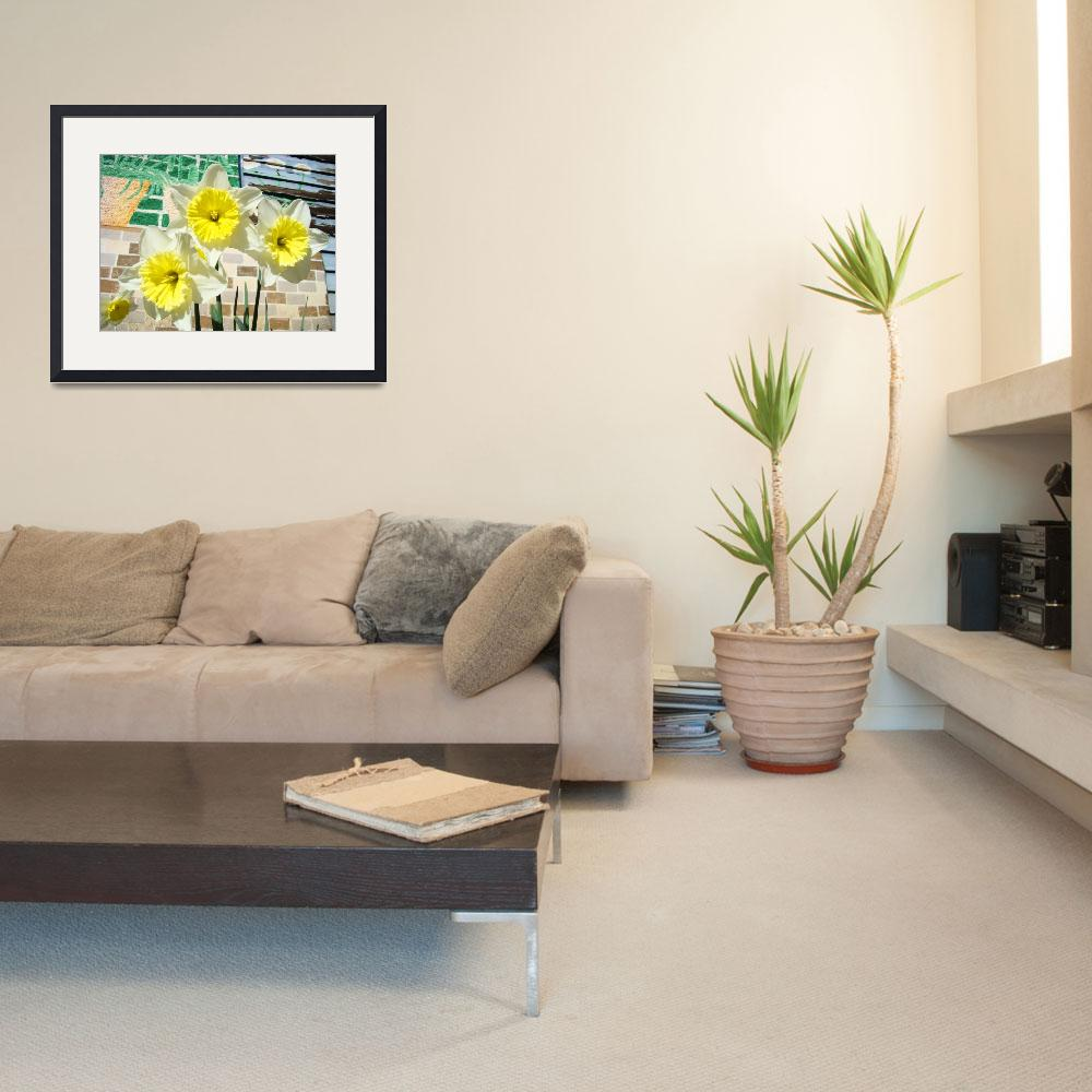 """Daffodils Flower Garden Art Prints Floral Mural&quot  (2014) by BasleeTroutman"