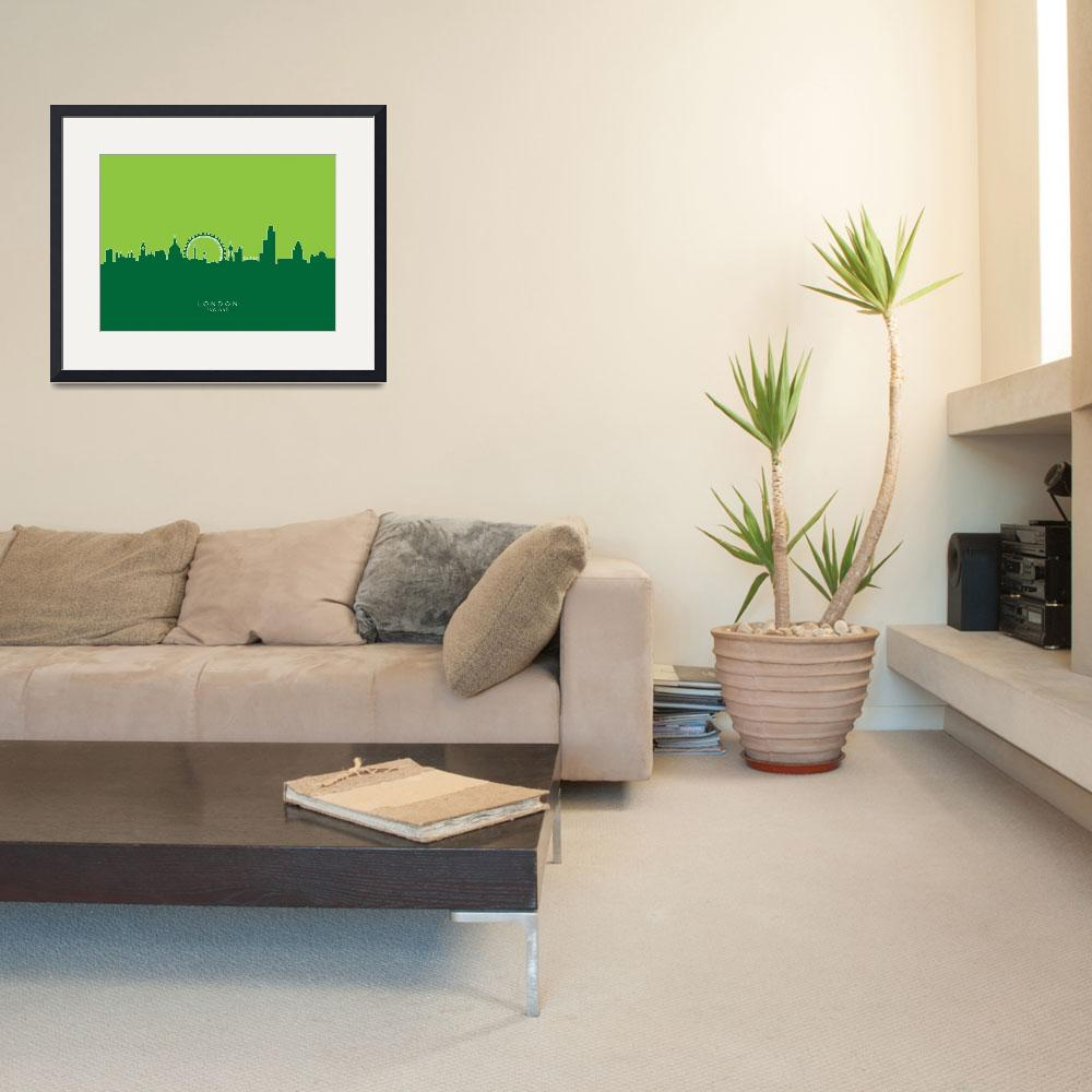 """London England Skyline&quot  (2014) by ModernArtPrints"