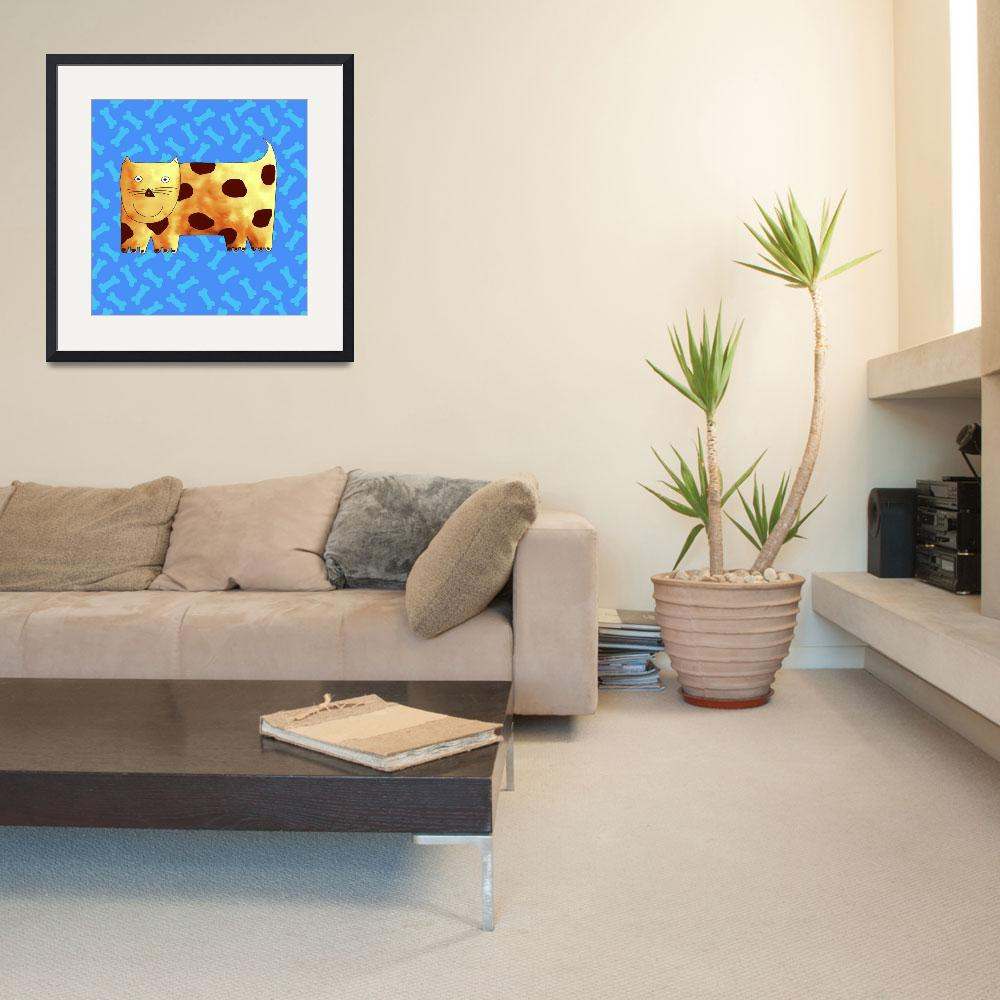 """Dog and Bones&quot  by julienicholls"