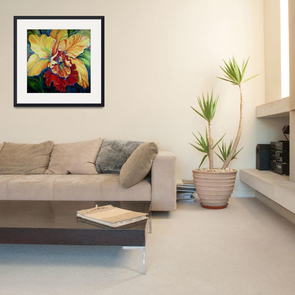 """TROPICAL ORCHID&quot  (2013) by MBaldwinFineArt2006"
