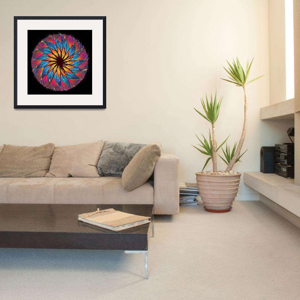 """Stained Glass Mandala&quot  (1998) by rjconway"