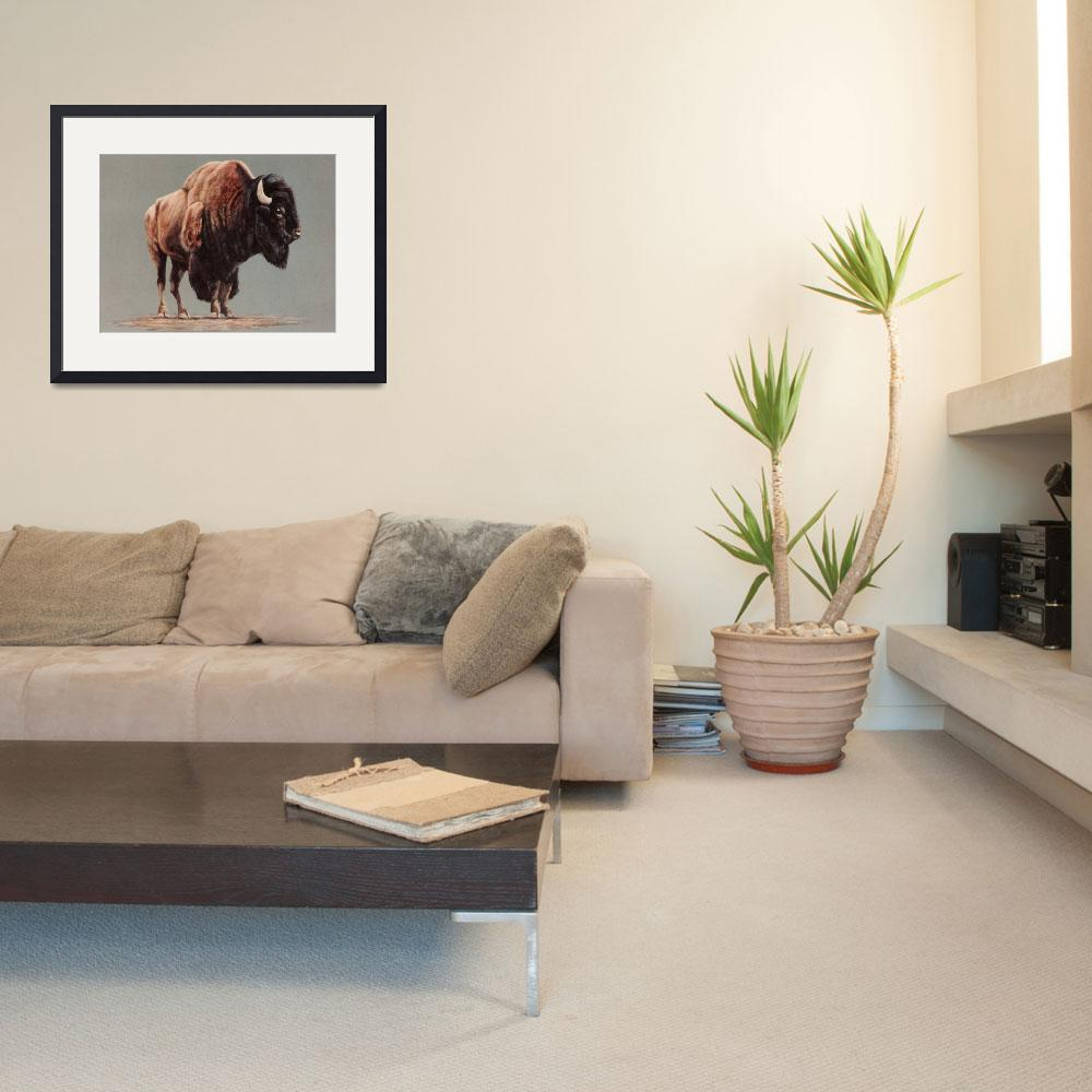 """American Bison painting&quot  by AnimalsbyDiDi"