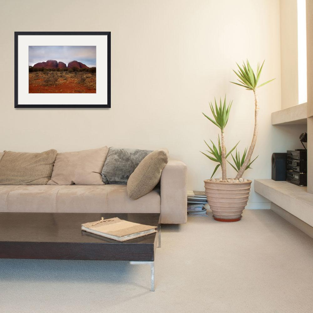 """Kata Tjuta Evening Glow&quot  (2010) by Dawsonimages"