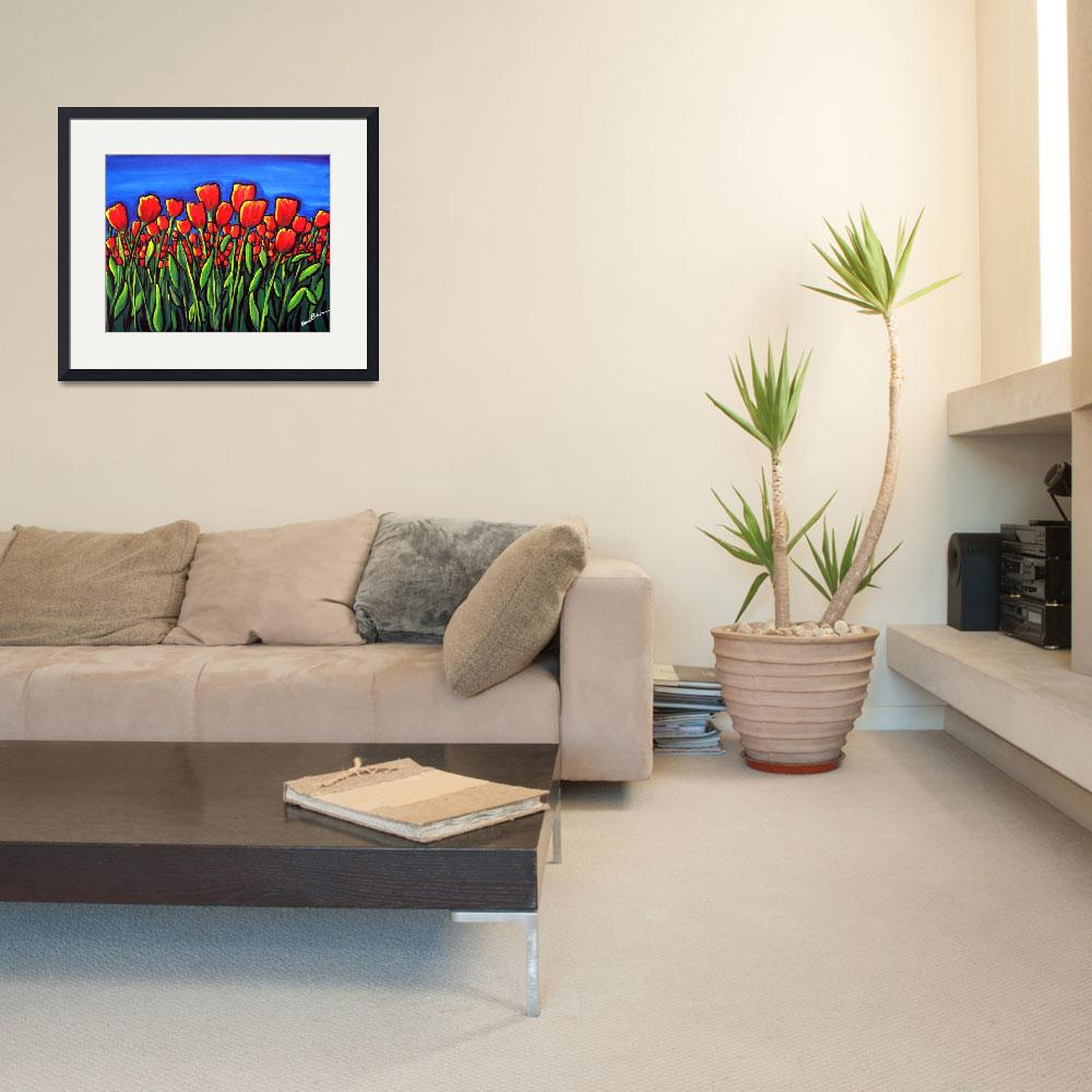 """Field of Red Tulips&quot  (2009) by reniebritenbucher"