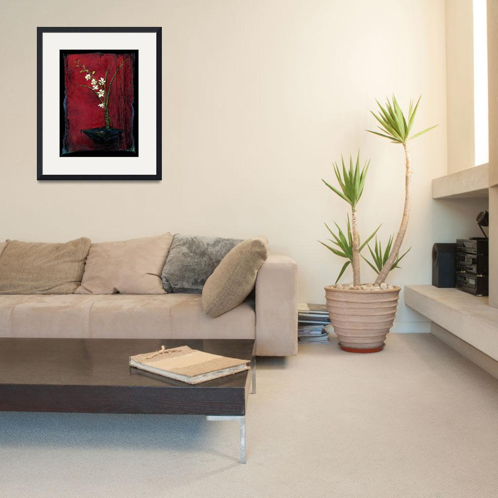 """Dendrobium Orchid - Ikebana&quot  by OpieSnowPrints"