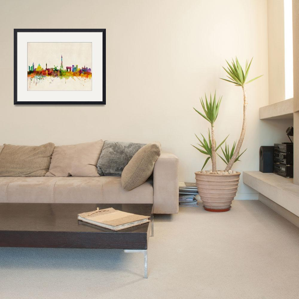 """Paris Skyline&quot  (2013) by ModernArtPrints"