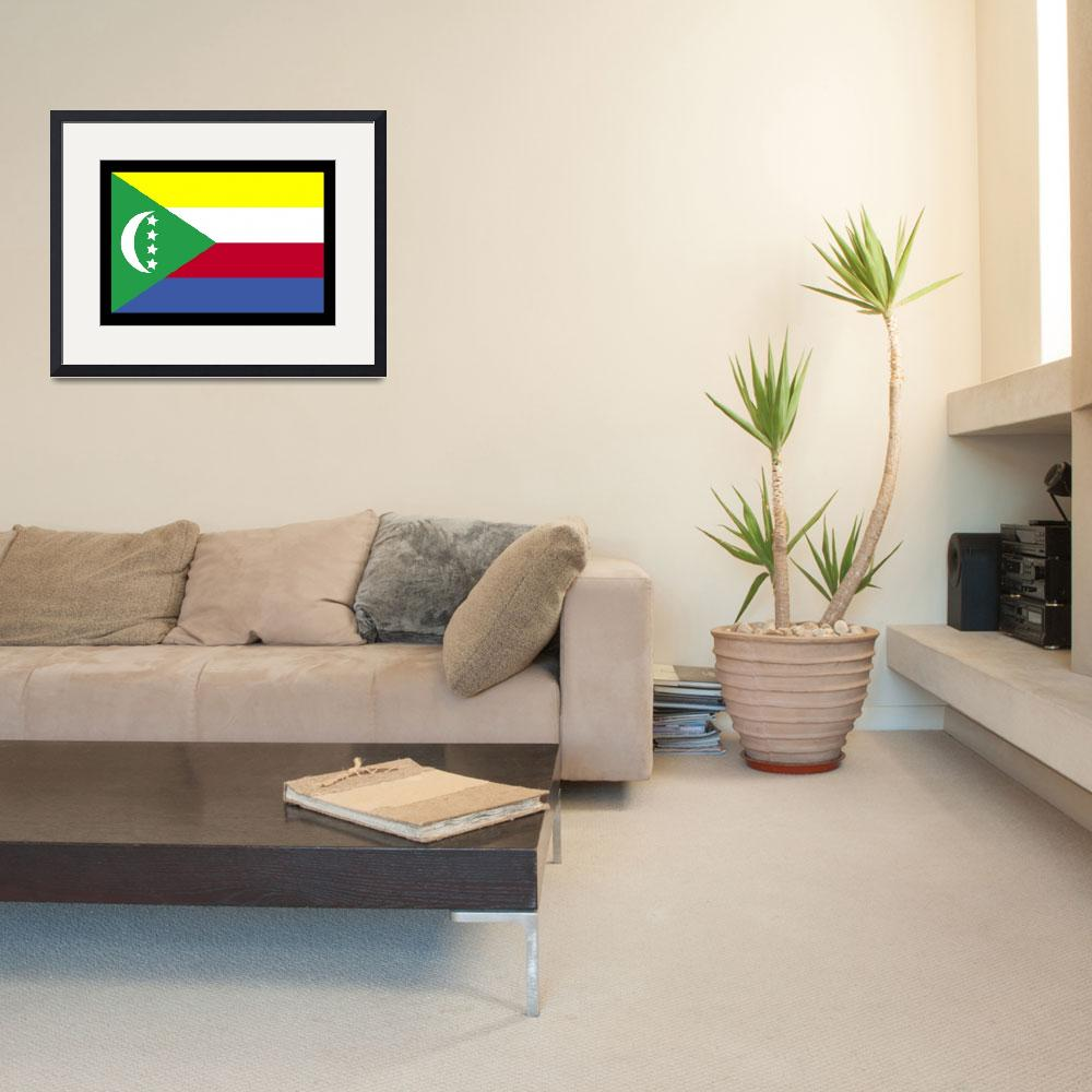 """Comoros Flag&quot  by KWGart"