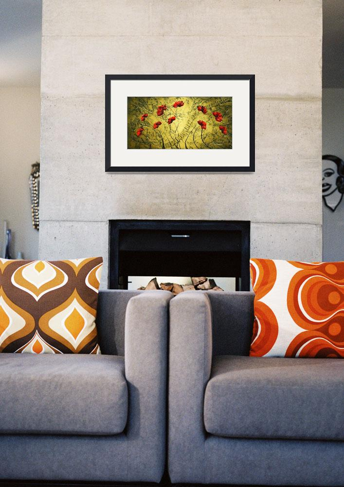 """Red Poppies&quot  (2009) by modernhouseart"