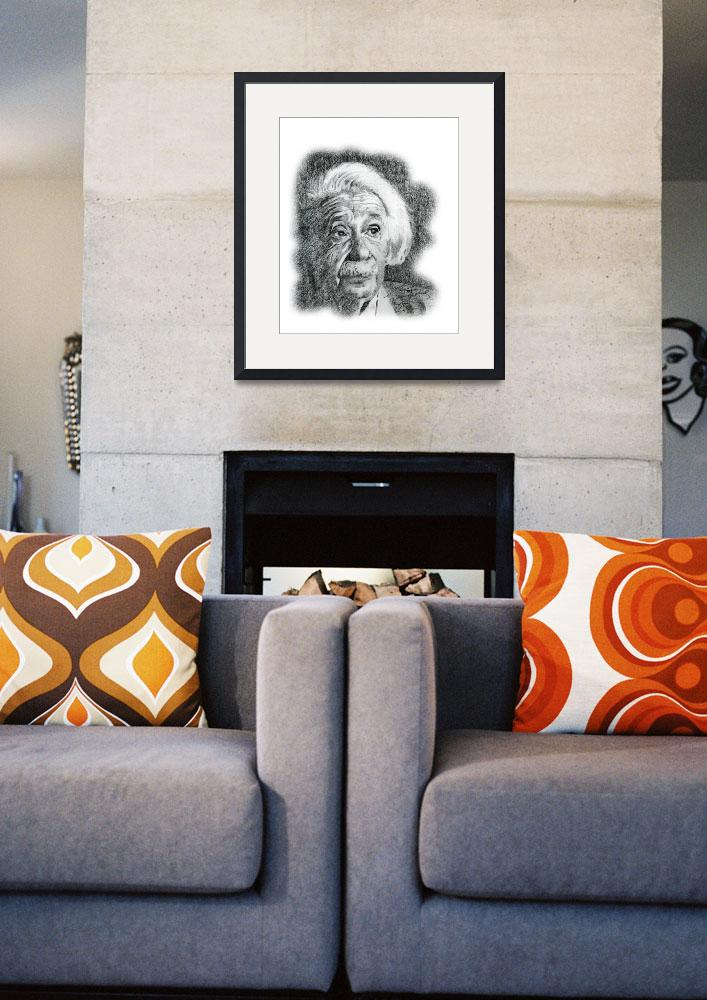 """Hand Drawn Portrait of Albert Einstein&quot  by CreativeArtisticNuance"