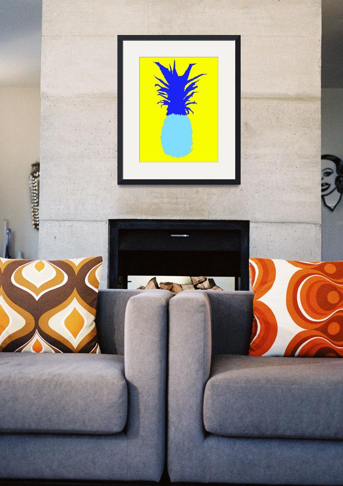 """Pineapple blue yellow (c)&quot  (2014) by edmarion"