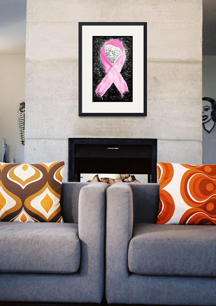 """Breast Cancer Awareness Ribbon&quot  (2012) by LukeMoore"