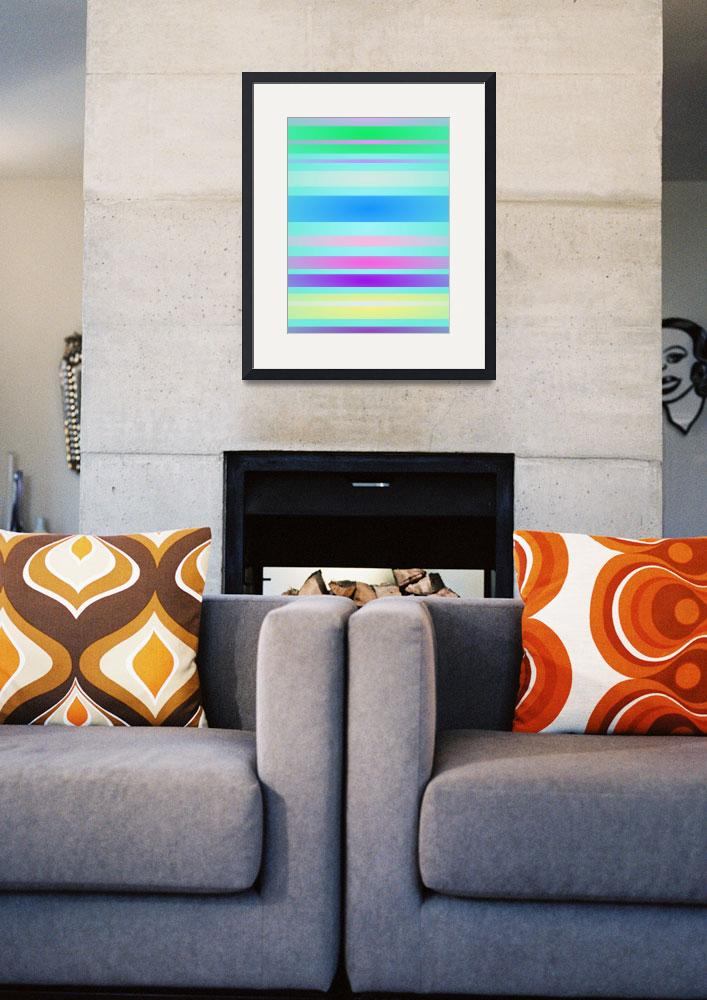 """Stripes Art Horizontal Light&quot  by masabo"